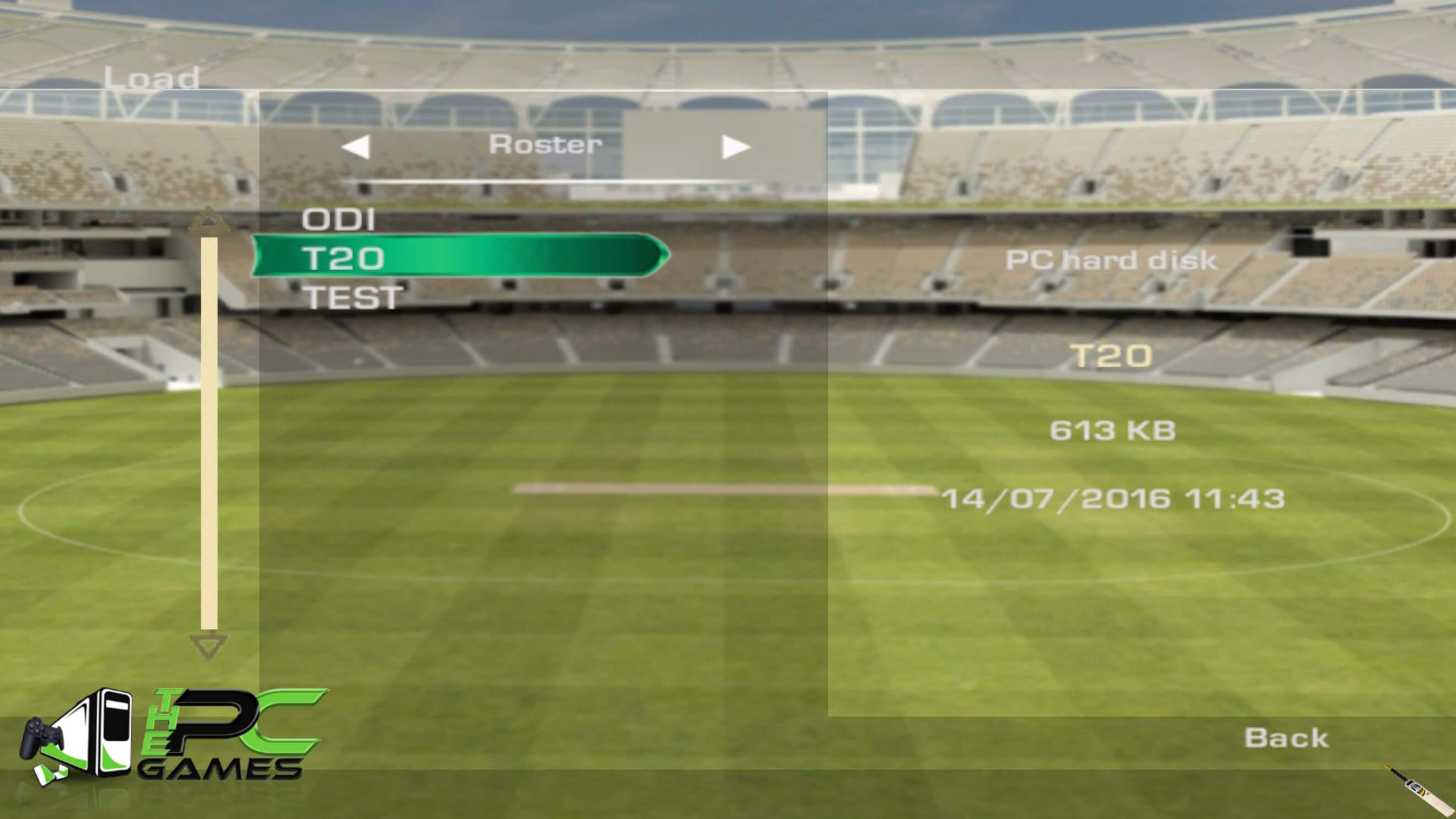 How to Load Roster (T20-ODI-Test) Tutorial (4)