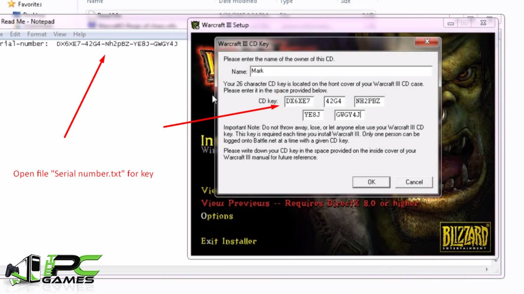 Install Warcraft III Reign of Chaos Step 7