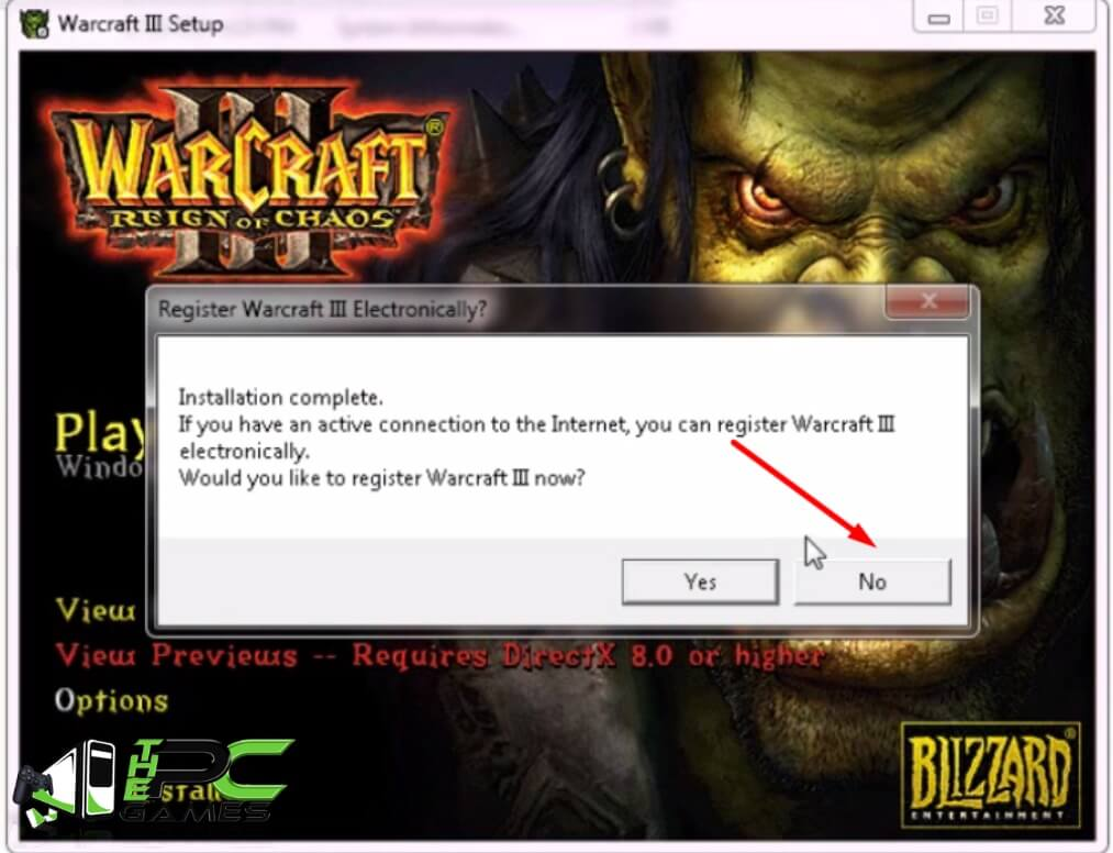 Install Warcraft III Reign of Chaos Step 8