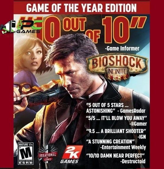 Bioshock Infinite Game of the Year Edition PC Game Free Download